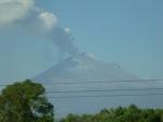 Outside of Puebla, Popo showing off abit